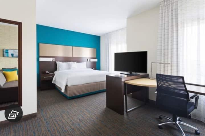 Quiet Hotel Room with Kitchenette