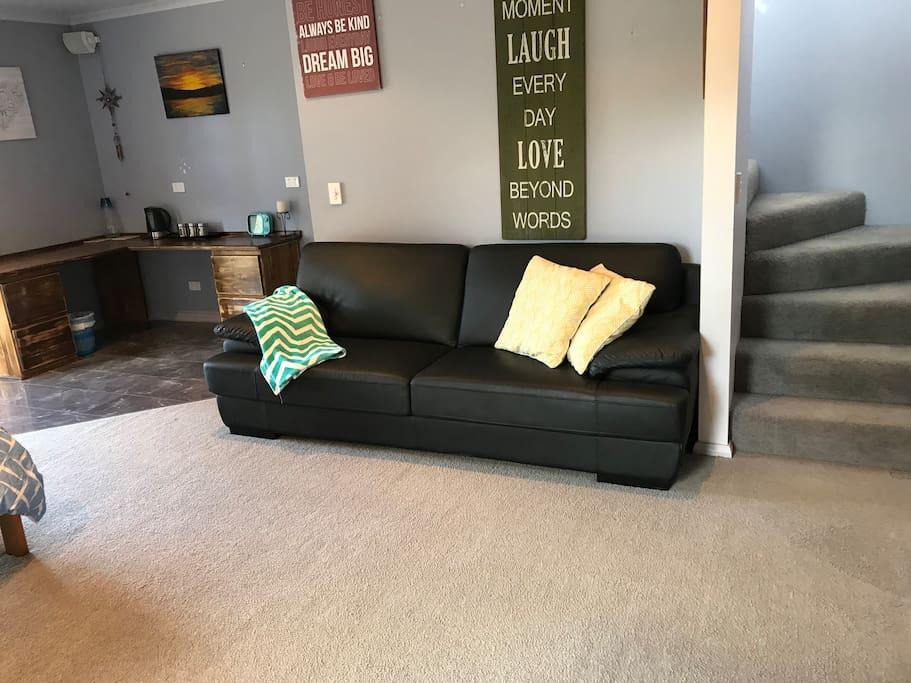 Downstairs lounge/ bedroom