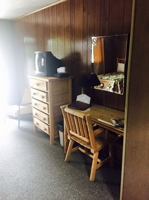 Our desk and dresser in each room