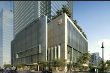 Luxurious shopping in Shangri-La at The Fort a block away from the apartment!