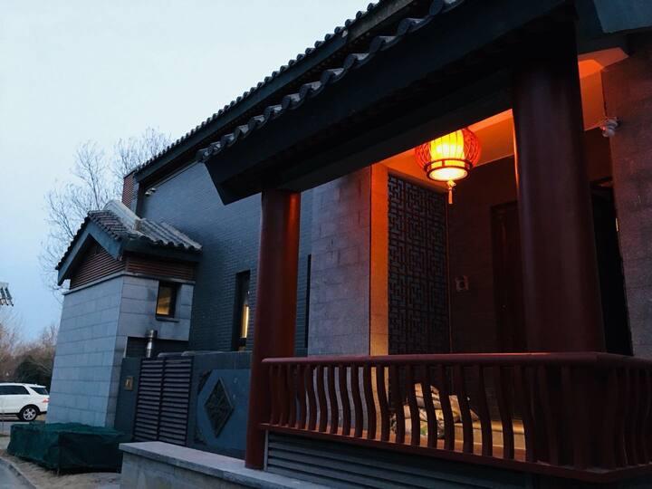 毗邻十三陵,长城,中式独栋别墅,竹林小院