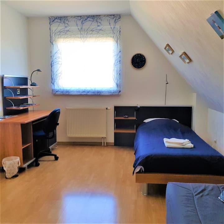 Chambre 1/3 pour 1-3 pers près Strasbourg+Aéroport