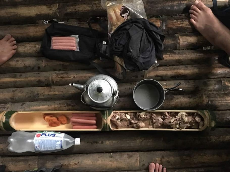Camping and cooking in the wild