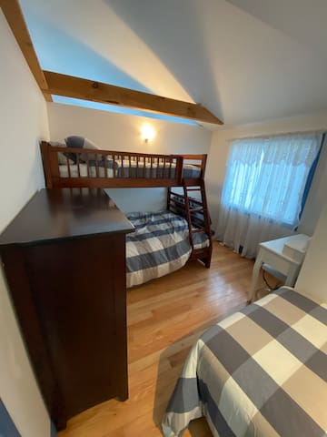 2nd Bedroom - Bunk with double and single Bed, also a separate single bed