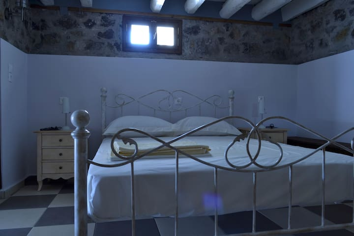 Νεοκλασικό διαμέρισμα με ιδιωτική αυλή στην Λίμνη - Limni - Apartemen
