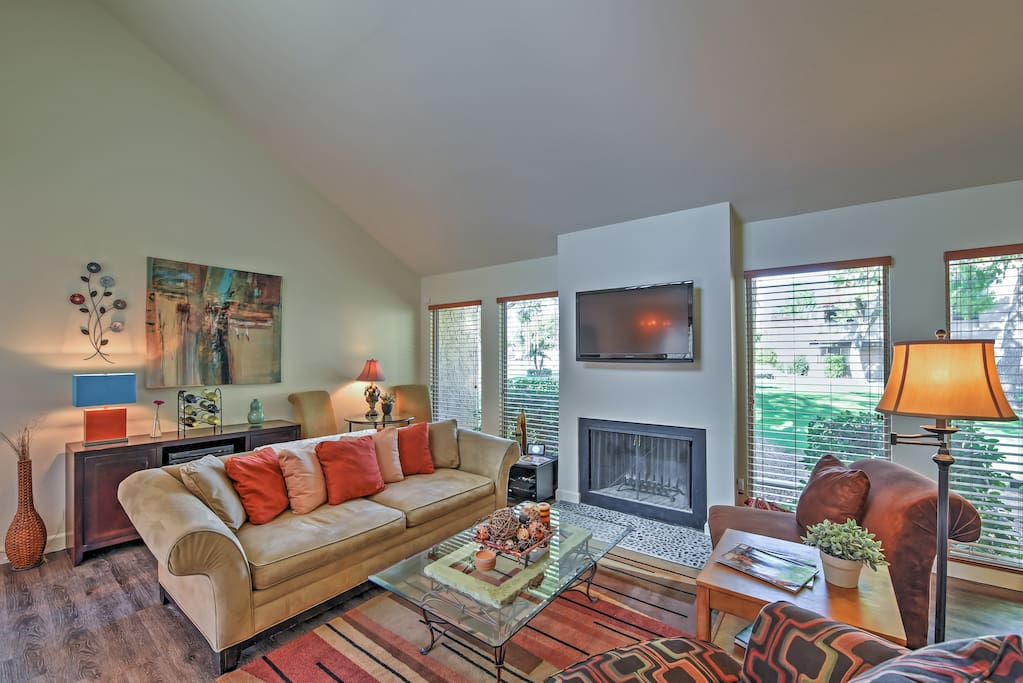 Spread out and relax in the completely remodeled living room.