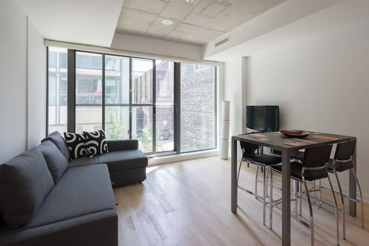 Modern 1 BR + Sofabed Ent. District Condo
