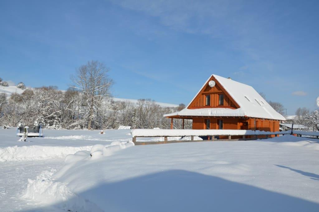 chata HolidayRaj,  zima, Malatíny, Liptov, Nízke Tatry