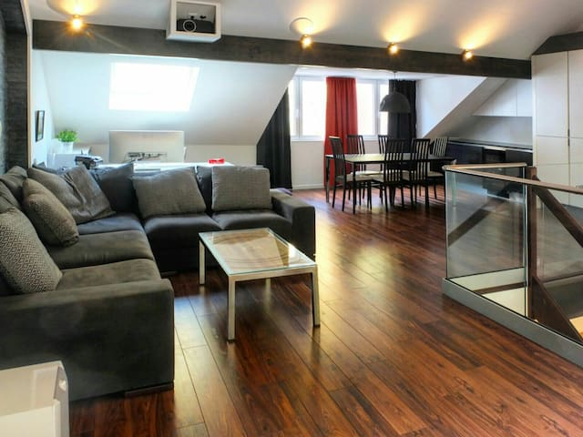 Luxurious loft w/ gym and garden in city center! - Luxembourg - Hus