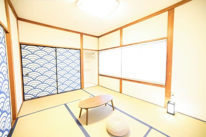 室戸岬のゲストハウス sky and sea muroto 海の間 1〜3名用和室(個室)