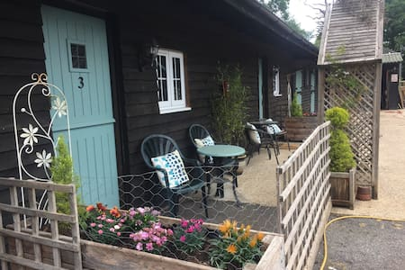 Self contained studio on Smallholding with kitchen