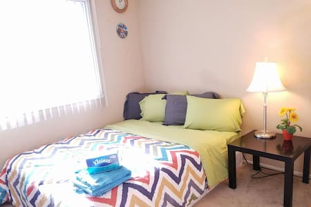 Affordable & Nice Queen Bed 干净的大床房 - Rowland Heights - Kondominium