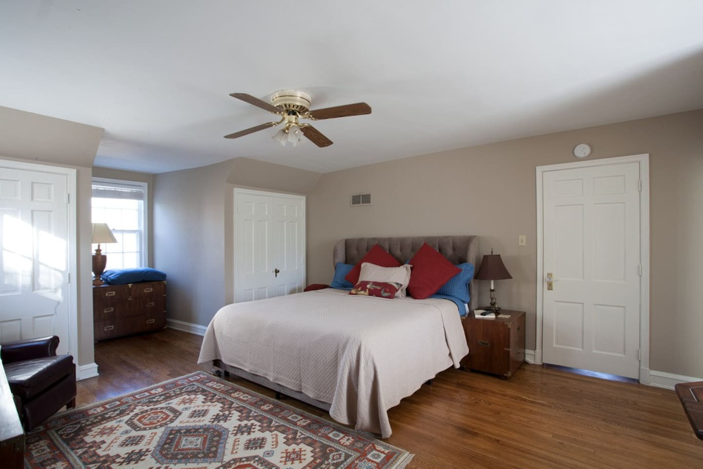 Book The Pub & Play Suite with it's huge super comfy California king bed.