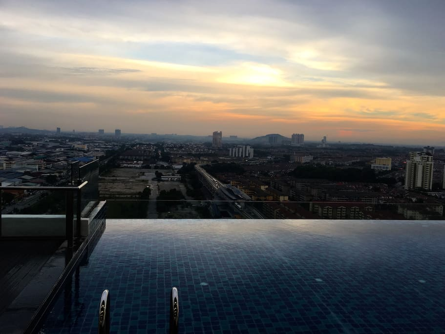 Infinity pool with Subang view