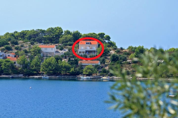 One bedroom apartment with terrace and sea view Skrivena Luka, Lastovo (A-8280-a)