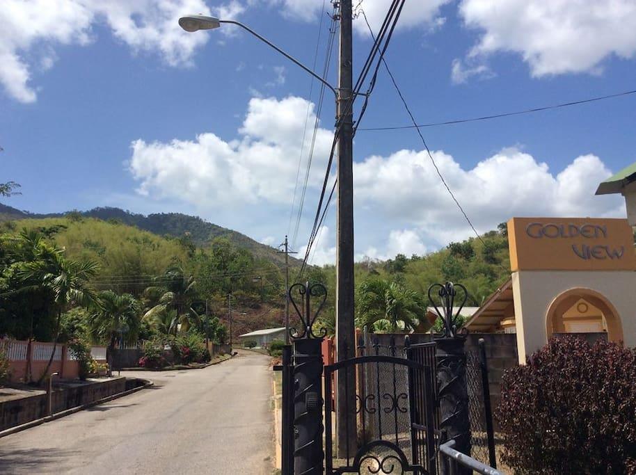 Entrance to the neighbourhood