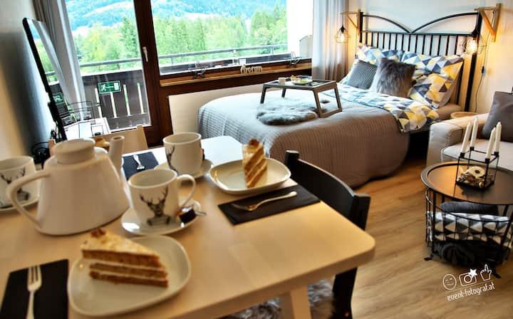 Stylový alpský apartmán s nádherným výhledem