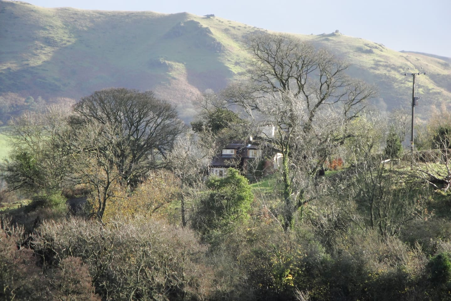 A stunning location in the hills- but only 5 minutes drive from the little town of Church Stretton