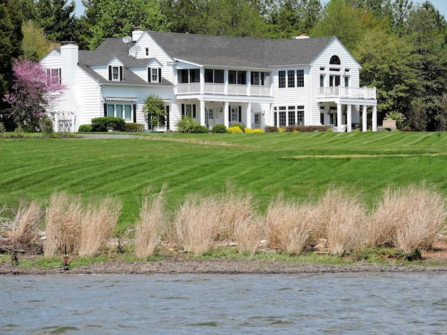 Elegant waterfront estate on Chesapeake Bay.