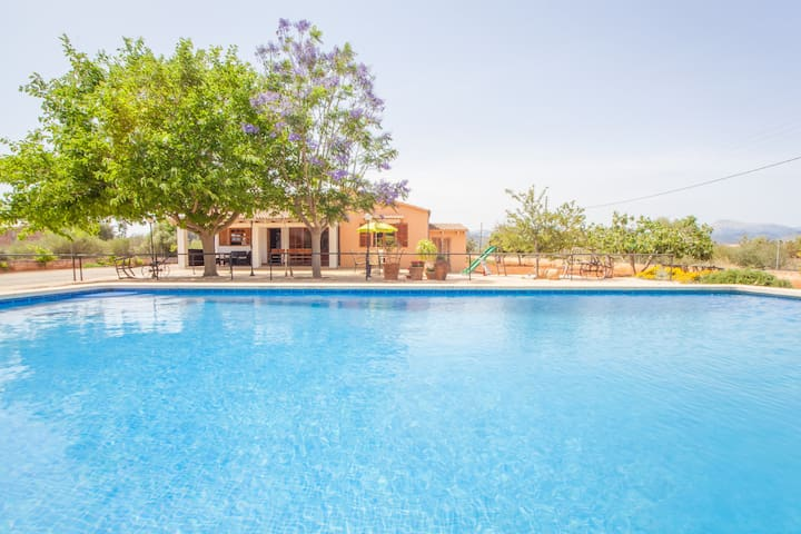CA'N CANASTRO - Villa with private pool in Binissalem. Free WiFi