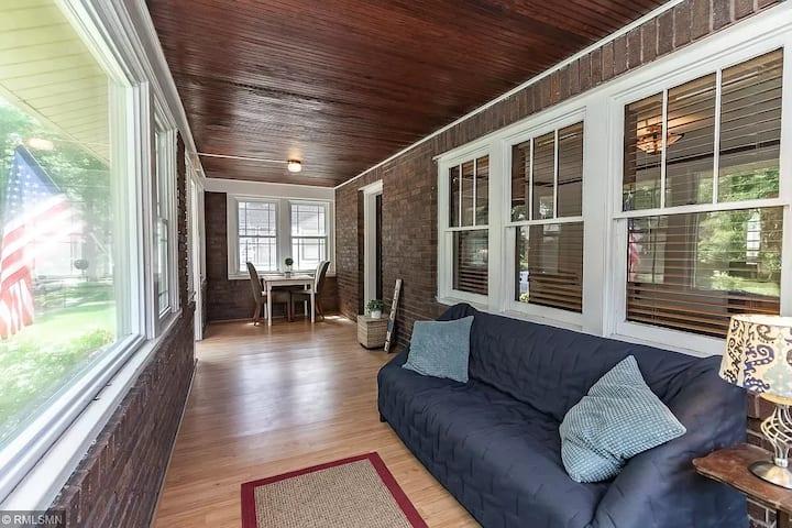 Bedroom at Wood Floor Bungalow