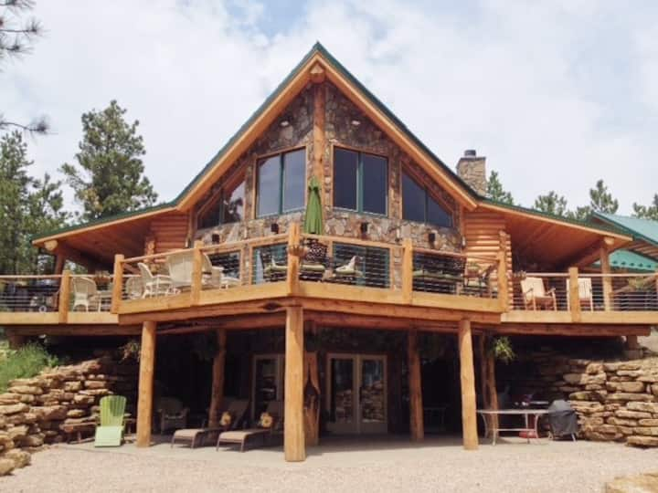 Gorgeous Log Home on 40 acres