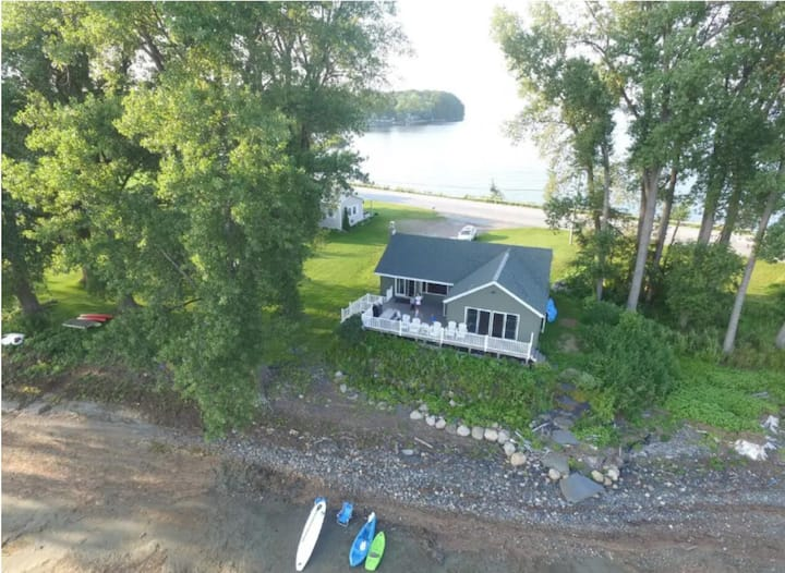 South Hero Lake Home Directly on Lake Champlain