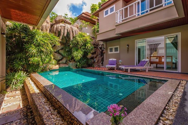 十月特惠 咨询有惊喜 Mount Pool Villa 靠近拉威海鲜市 奈涵海滩 可住12人
