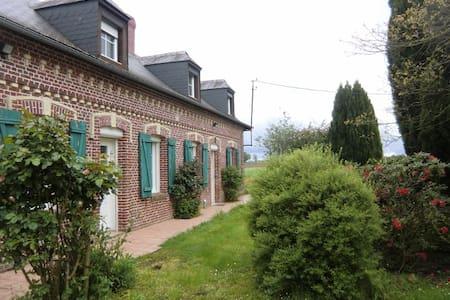 Maison de campagne avec parc paysagé . - Auzouville-l'Esneval - Cabaña en la naturaleza