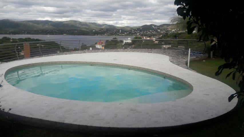 Departamento con excelente vista al lago y sierras - Villa Carlos Paz - Flat