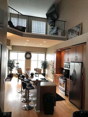 2 LEVEL PENTHOUSE LOFT DOWNTOWN NEAR ICE DISTRICT