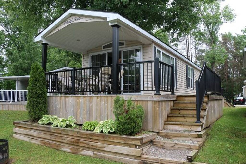Enjoy outdoors on sunny and rainy days on your covered porch