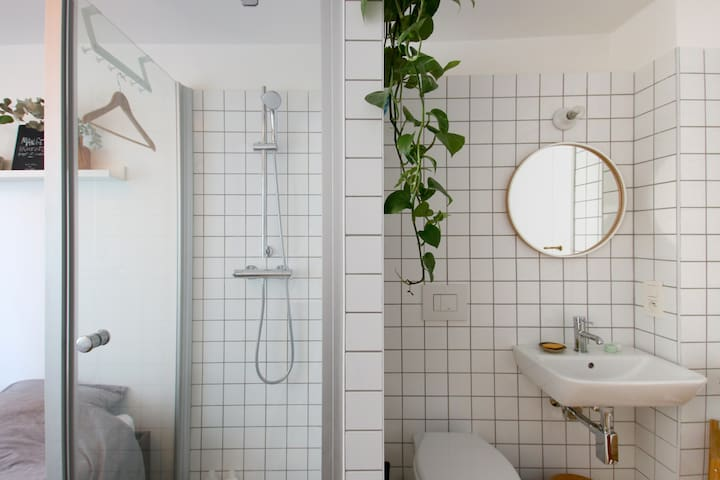 Cute private room between Flagey and Chatelain - Ixelles - Leilighet
