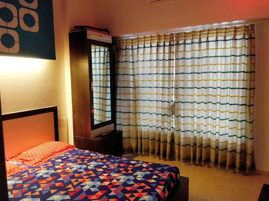 cozy colourful bedroom