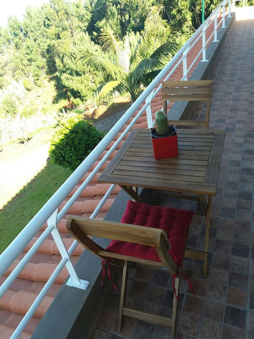 you can relaxe outside the apartment with our amazing view!