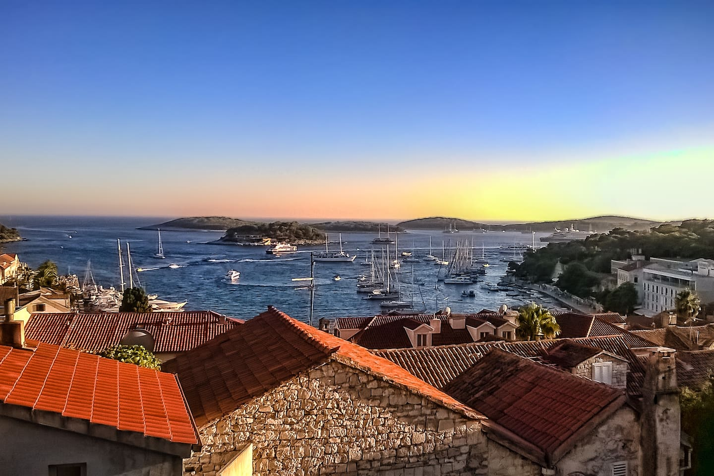 View from room window shows the beauty of Hvar