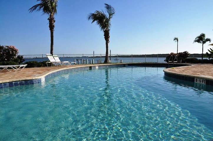 Watch dolphines from the balcony! Best rated condo