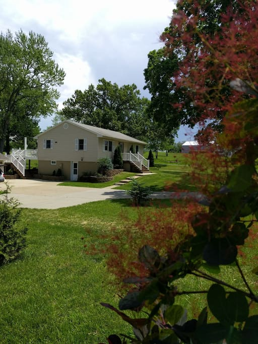 Updated Farmhouse and parking area,House is located on Sommers Road, which has become a very busy road, new high school accross the street, great place to take walks