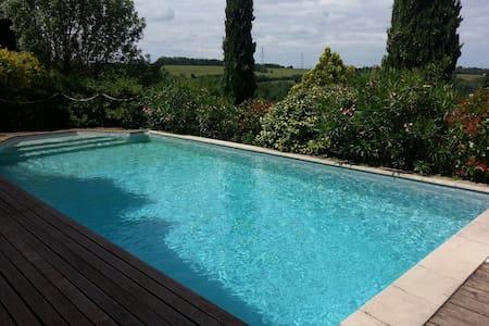 Superbe maison avec piscine aux portes de Toulouse - Montrabé - Rumah