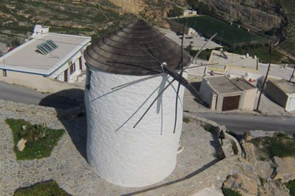 Aerial view of the windmill