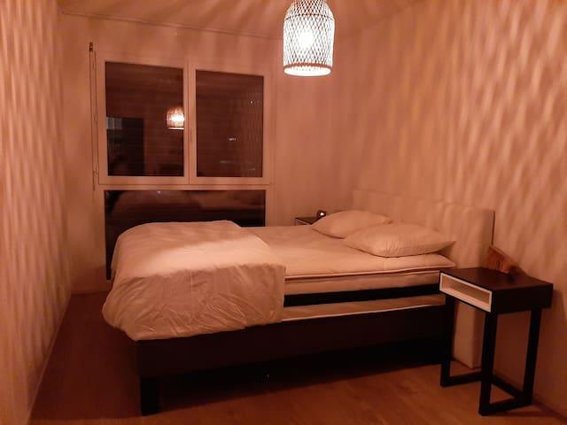 Chambre privative dans un appartement de 100 m2