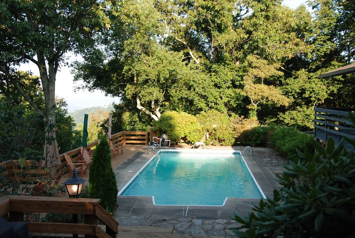 Scenic Mountain Retreat - SPECTACULAR Views, Hot Tub, Private Pool; Asheville Destination!