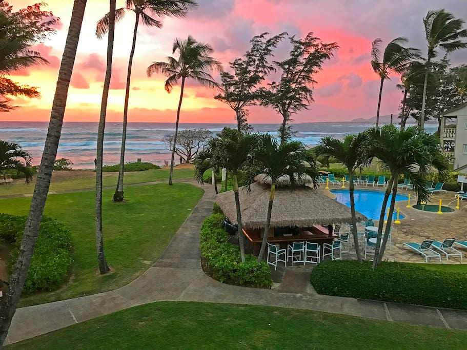 Another beautiful sunrise directly taken from the condo lanai.