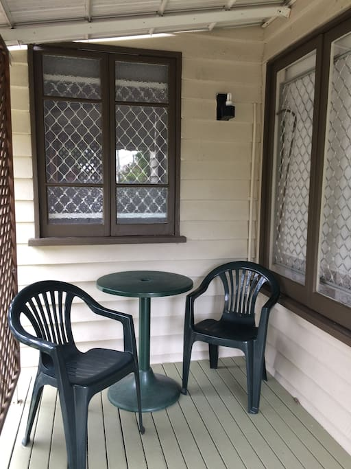 Front verandah. Great for breakfast or afternoon drinks. Also large verandah and grassed yard at rear of house