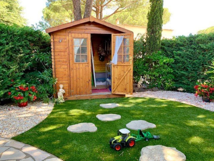 Charming T3 mezz 6 pers residence Le Hameau des Pins with swimming pool in the calm of the pine forest