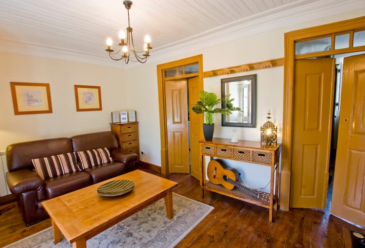 Rustic style 4-roomed apartment with great views.