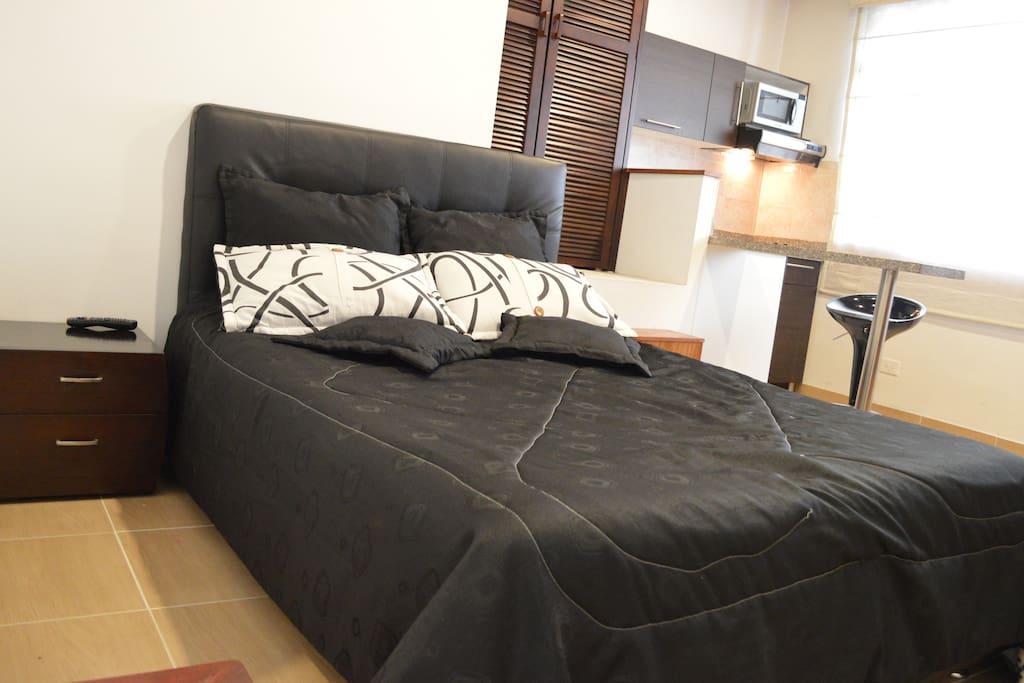 Cómoda cama doble