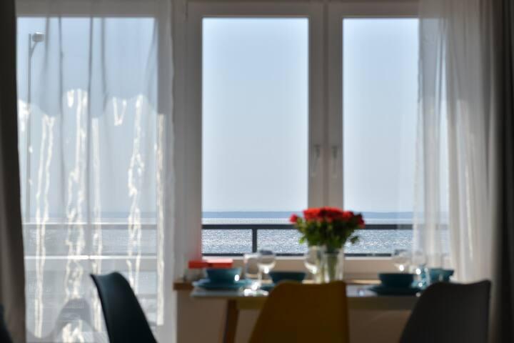 Apartament z widokiem na zatokę - Chałupy