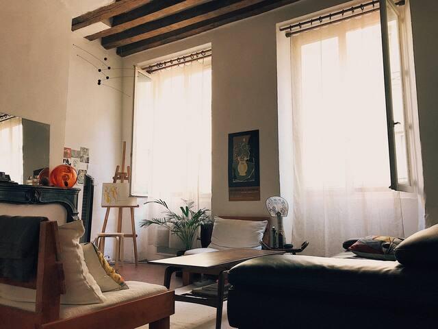 L'Appartement artistique au Marais/Bastille.