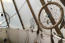 Indian Dreamcatchers will catch all the bad dreams, so all you'll have here is a great night's sleep.